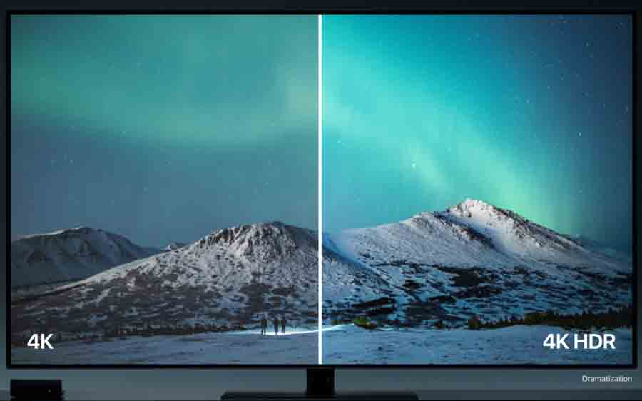 Apple 4K TV HDR vs streaming