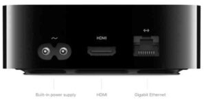 Apple TV 4K ports and interface