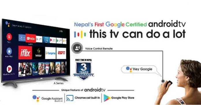 CG Google Certified android tv price nepal