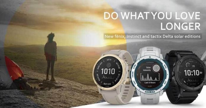 Garmin Smartwatches Solar Edition Launched