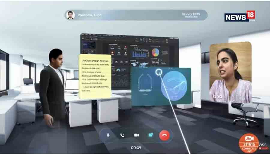Jio Glass 3D holographic video call