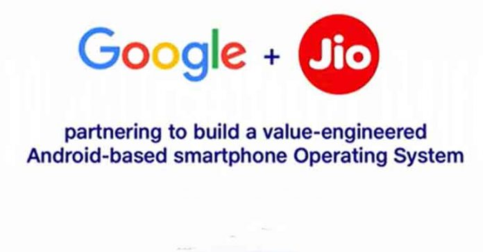 Jio and Google to partner for 5G smartphone