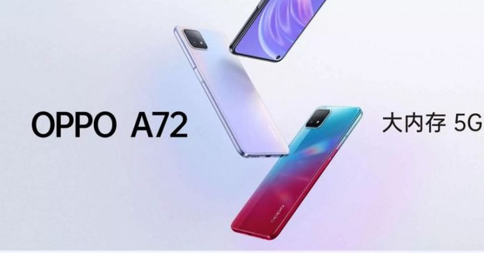 OPPO A72 5G Launched