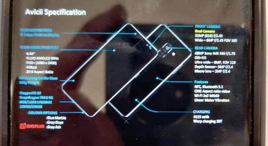 OnePlus Nord Presentation Slide Leak