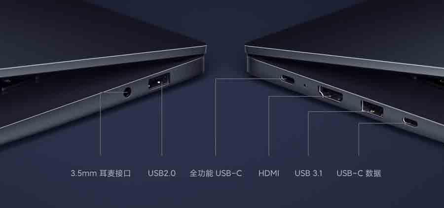RedmiBook 16 Ports