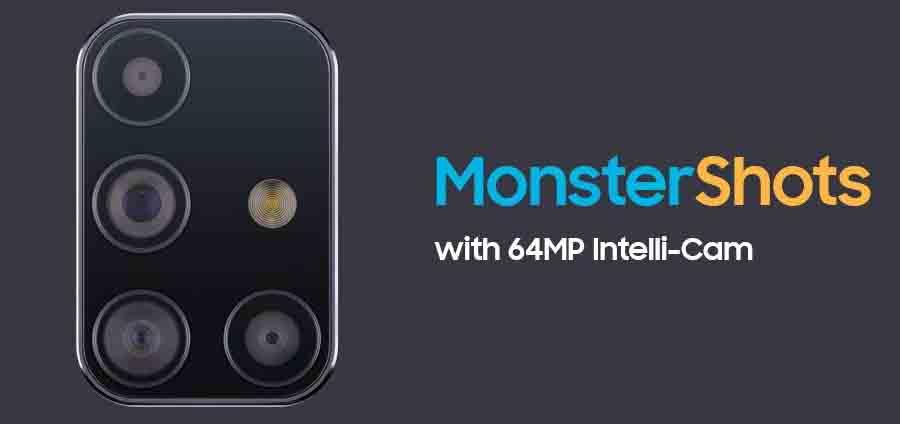 Samsung Galaxy M31s camera setup