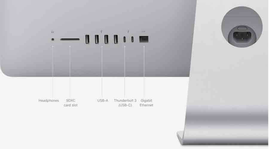 27-inch iMac 2020 ports and connection