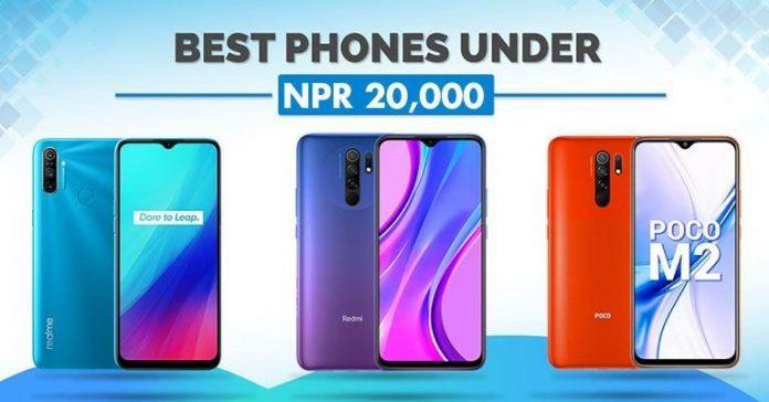 Best phones under NPR 20000 in Nepal (November 2020) 20 thousand 20K smartphones oppo vivo realme xiaomi redmi poco samsung
