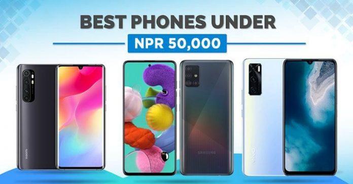 Best phones under NPR 50000 in Nepal (November 2020) smartphones 50 thousand 50K oppo vivo samsung xiaomi