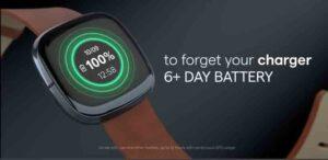 Fitbit Sense battery backup