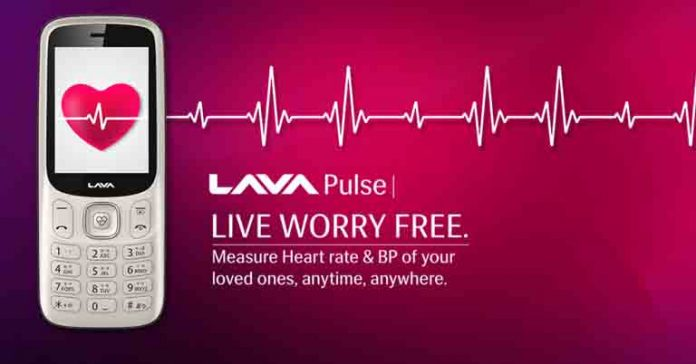 Lava Pulse launched specs feature price Nepal blood pressure heart beat sensor