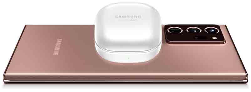 Samsung Galaxy Buds Live wireless charging