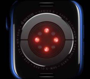 Apple Watch 6 SpO2 sensor