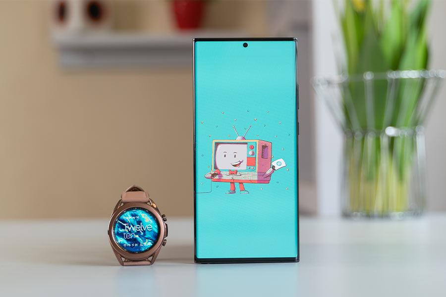 Galaxy Watch 3 alongside a phone