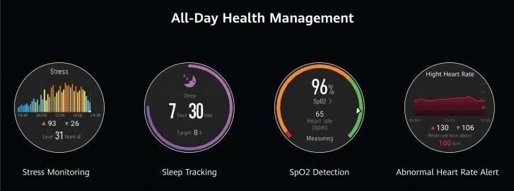 Huawei Watch GT 2 Pro - Health Sleep Stress SpO2 tracking monitoring