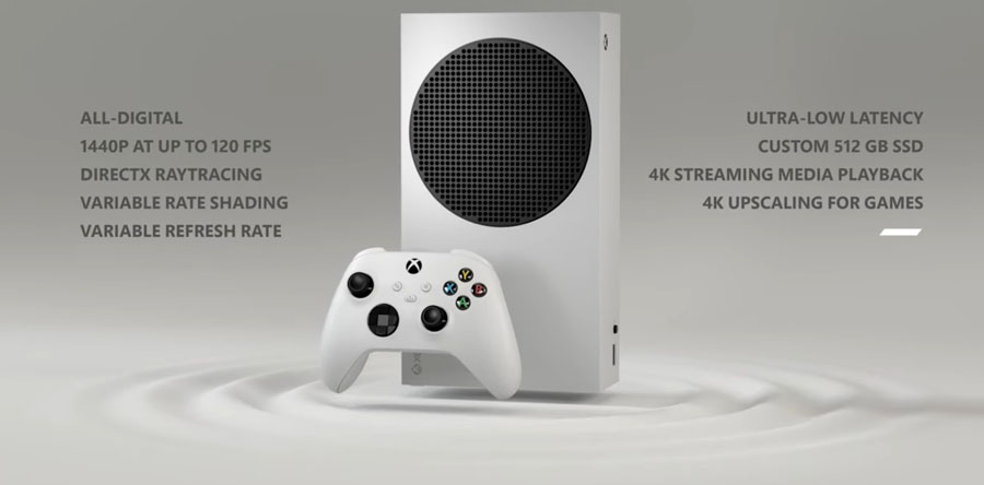 Microsoft Xbox Series S features key