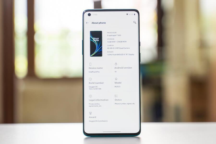 OnePlus 8 Pro - OxygenOS