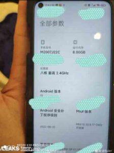 Redmi Note 10 leaked specs