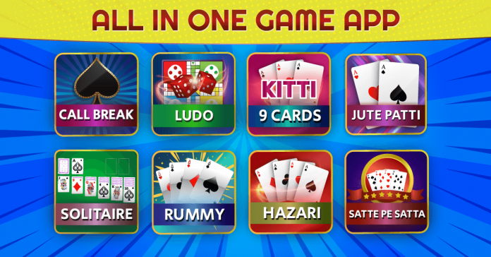 Callbreak, Ludo, Rummy, Kitti, Solitaire Card Games