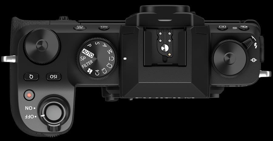 Fujifilm X-S10 top panel customizable mode dial
