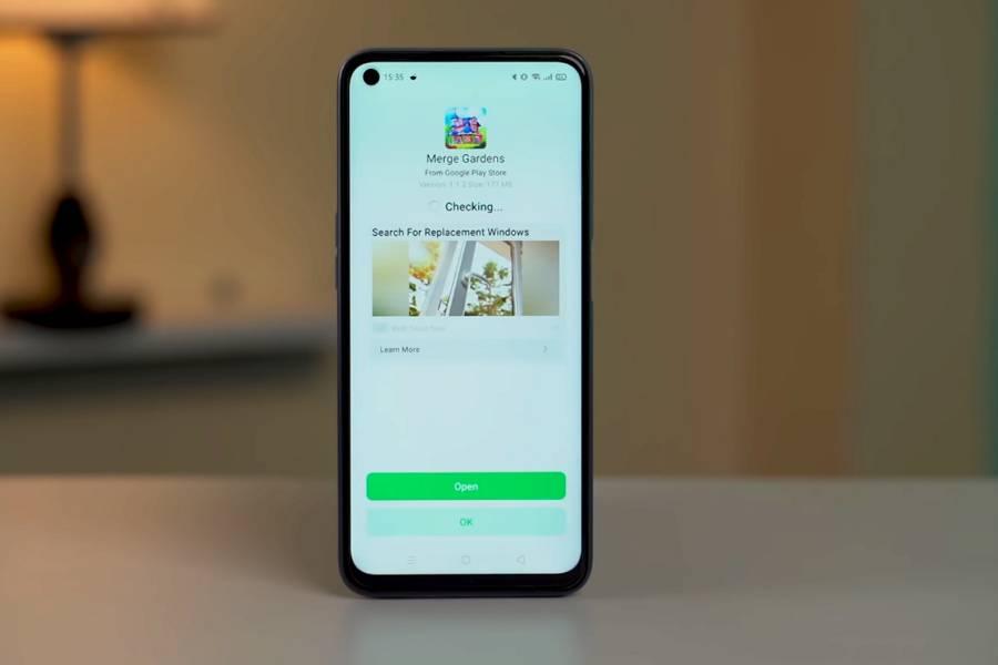 Realme 7 - Ad in UI