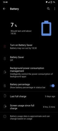 Vivo V20 - Screen on time