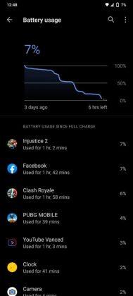 Vivo V20 - Screen on time - per app