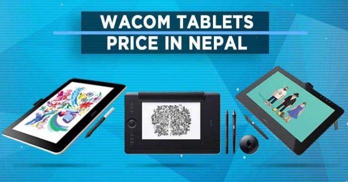 Wacom tablets price in nepal digital art drawing tablet display pen stylus