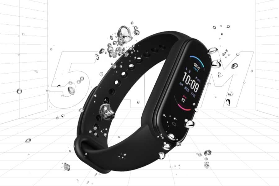 Amazfit Band 5 - 5ATM Water resistance