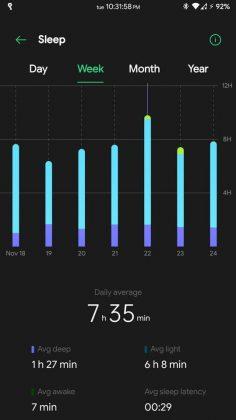 HeyTap Health - Weekly Sleep Record
