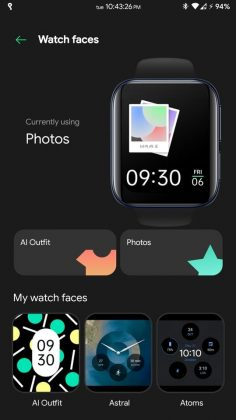 OPPO Watch - Watch faces