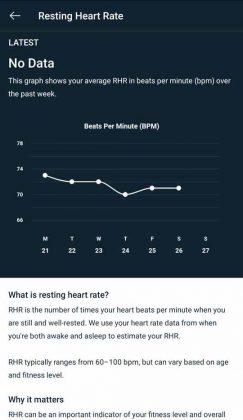 Versa 3 - Resting Heart Rate