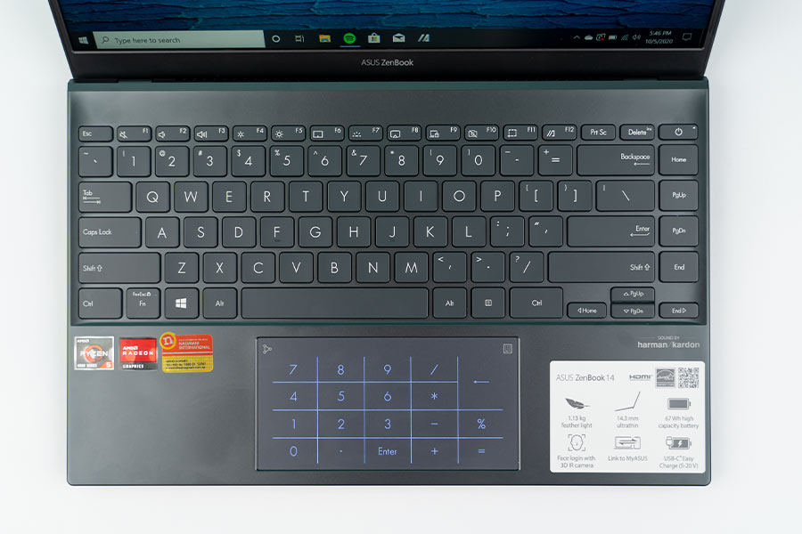 ZenBook 14 - Keyboard, Trackpad