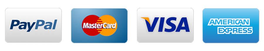 International Payment Gateways (PayPal, AMEX, VISA, MasterCard)