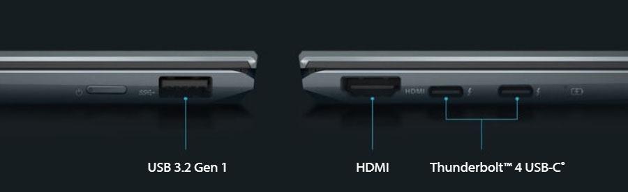 Asus Flip 13 UX363EA Ports