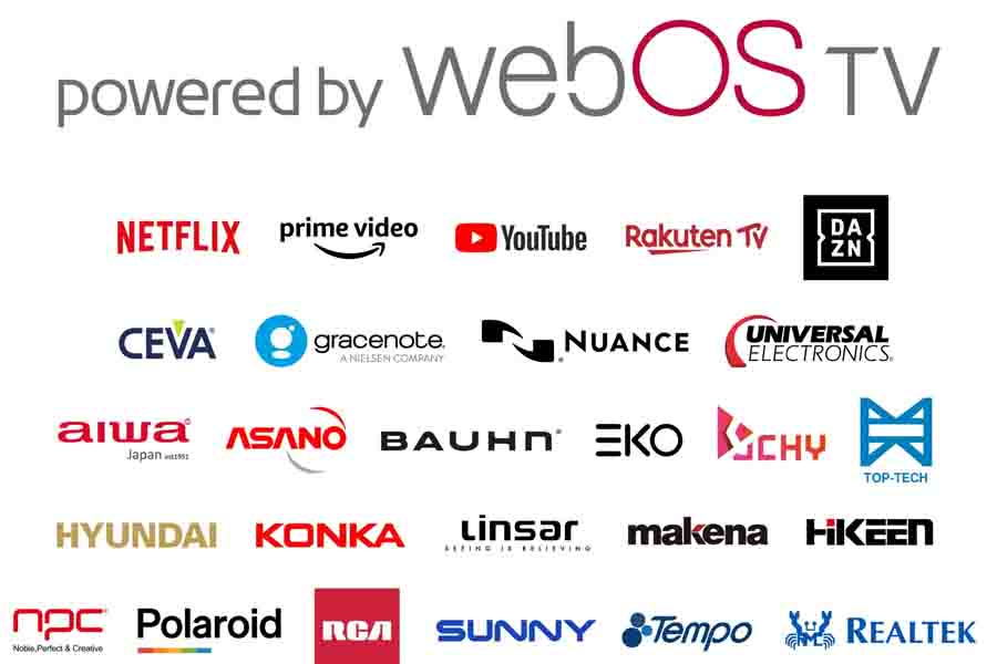 LG webOS TV supporting brand partners