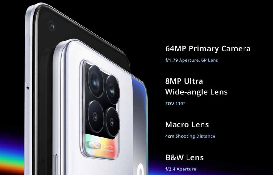 Realme 8 Camera setup