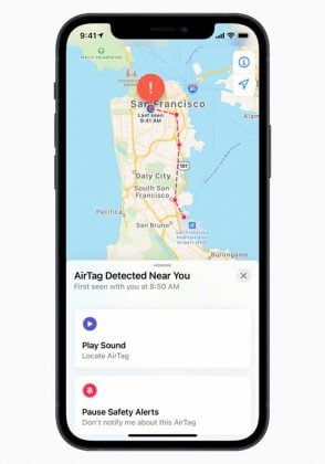Apple AirTag - Nearby Detection