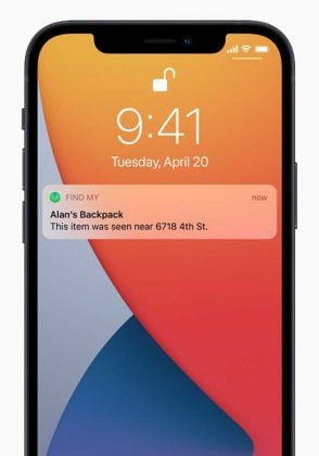 Apple AirTag - Notification