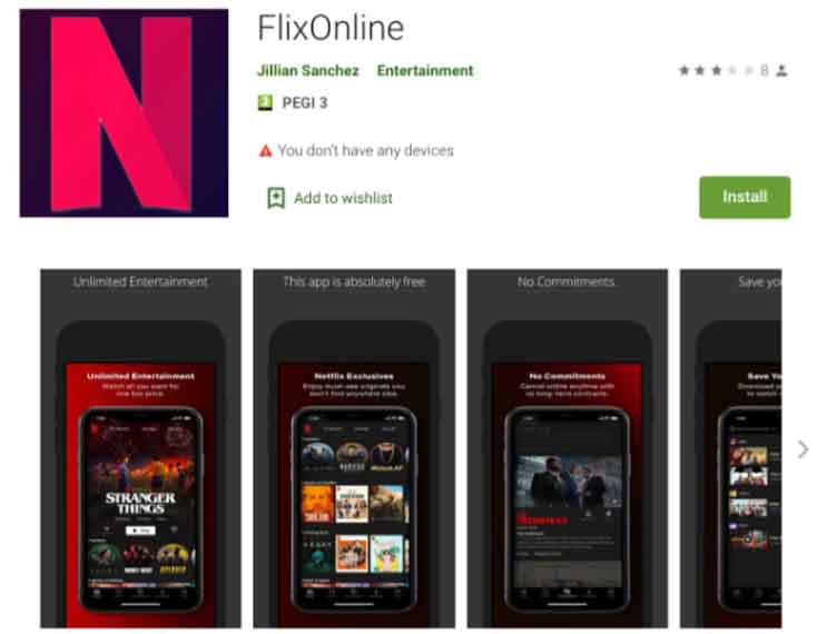 FlixOnline on Google Play Store