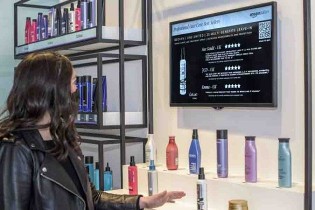 Point and Learn technology in Amazon Salon