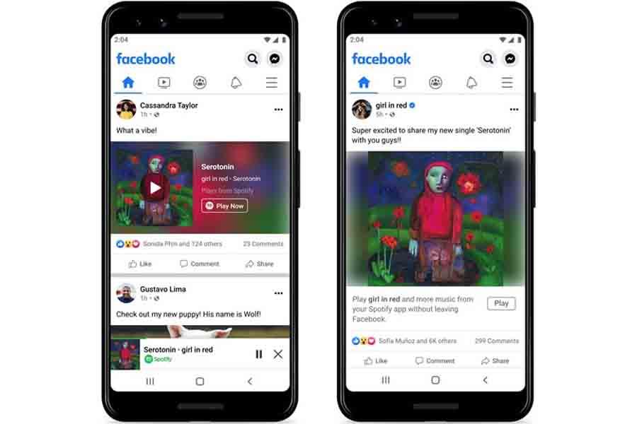 Spotify Miniplayer Integration into Facebook