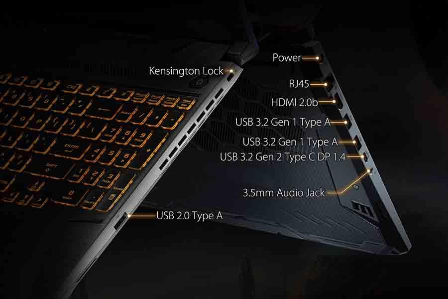 Asus TUF FX506 Ports and Slots