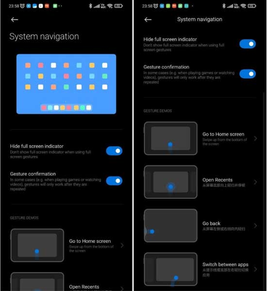Gesture navigation demo for upcoming Xiaomi Mi Pad tablets