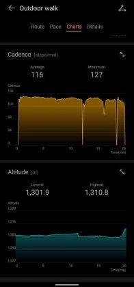 Huawei Health - Outdoor Walk - Cadence