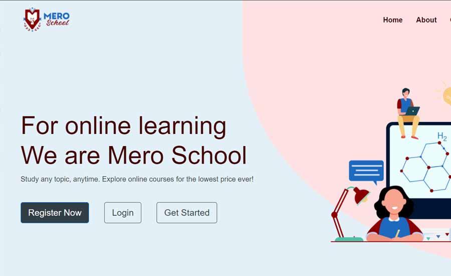 Mero School Nepal best e-learning platforms