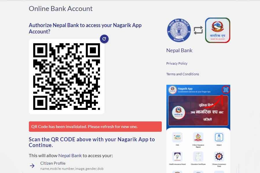 Nagarik App Bank Integration