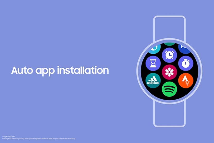 Auto App installation on One UI Watch