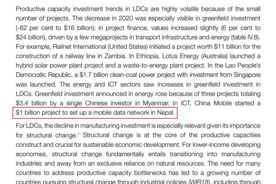 China Mobile plan to invest $1 in Nepal