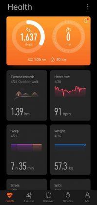 Huawei Health - Dashboard